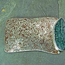 Mokume Gane  Pin With Carved Stone Photo