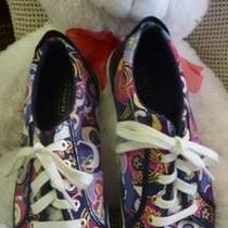 Multi Colored Poppy Coach Shoes Size 7-1/2 Photo