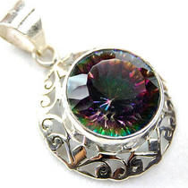 Mystic Topaz Sterling Silver Pendant P5016 Photo