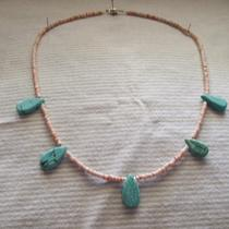 Native Insipred Shell Heishi and Turquois Necklace Photo
