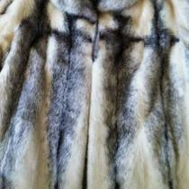 Natural Black Cross Mink Designer Coat Photo