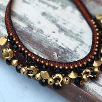 Necklace/chocker &quotblack agate&quot Photo