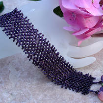 Net One Bead Two--Netted Cuff Bracelet Photo
