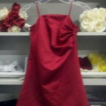New Claret sz 6 Satin Dress Photo