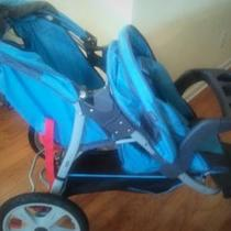 New Double Jogging Stroller - Instep Tandem Jogging Stroller  Photo