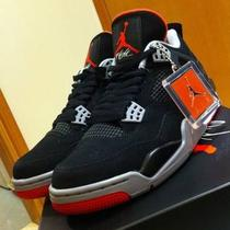 New in Box - Retro Air Jordan 4 (Iv) - Bred Aka Black Cement - Sz 8-13 Photo