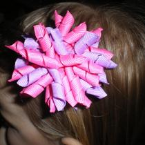 New New Princess Pink and Purple Korker Hairbow Photo