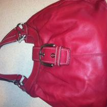 New Red Leather Coach Purse Photo