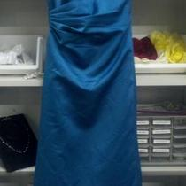 New Size 6 Teal Dress Satin Photo