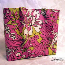 New--the Dahlia Eden Tote--Three Big Slash Pockets--Stands on Its Own--Amy Butler Wildflowers in Rose Photo