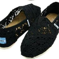 New tom&amp039s Classic Crochet Black Shoes (Us Sizes 7 &ampamp 8) Photo
