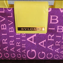 New With Tag  Authentic Bvgari Silk &ampamp Leather Handbag Photo
