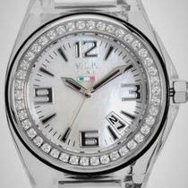 NEW WOMENS VIP TIME ITALY WATCH CRYSTALS MOTHER OF PEARL $365 Photo