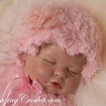 Newborn Baby Hat and Shoulder Wrap 2-Pc Set Photo