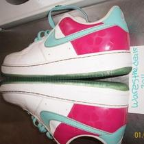 Nike Air Force 1 Hawaiian Edition mens 11 100% Legit Pink Blue Gold Photo