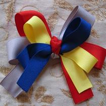 Ohio State and Michigan Hair Bow or Clip Photo