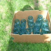 Old Blue Canning Jars Photo