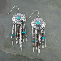 Old School Turquoise and Penn Shell Earring Photo