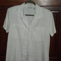 One White Linen Lis Claiborne Collection Shirt Photo