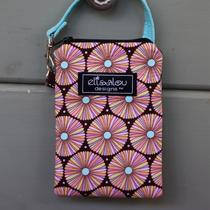 Padded Gadget Pouch- Spin Floral Iphone Flip Blackberry Camera Cellphone Photo