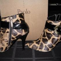 Paolo Kasey Animal Print Booties - 6 1/2 (37) Photo