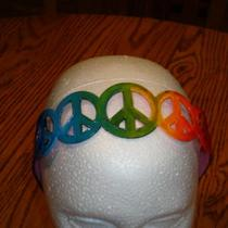 Peace Love & Rainbows headband Photo