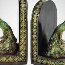 Peacock Bookends Photo