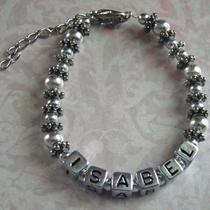 Personalized Mamacita Bracelet - Custom Name - 1 Name Photo