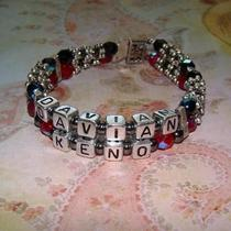 Personalized Mamacita Bracelet - Custom Name - 2 Names Photo