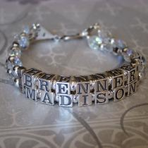 Personalized Mamacita Bracelet - Custom Name - Sterling Silver - 2 Names Photo