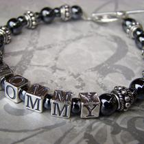 Personalized Mamacita Bracelet - Custom Name - Sterling Silver - 1 Name Photo