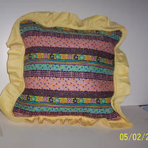 Pillow Yellow Ruffle Photo