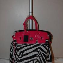 Pink and Black Zebra Carry on Roller Bag Photo