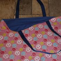 Pink Peace Material Tote Bag Photo