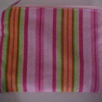Pink Stripes Zippered Pouch Photo