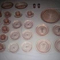 Pink Windsor Diamond Depression Glass Photo