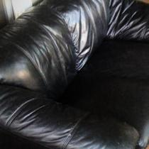 Pleather Couch Photo