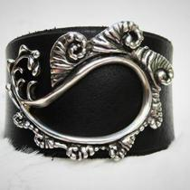 Prehistoric Paisley Leather Bracelet Photo