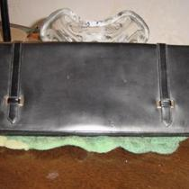 PURSE HANDBAG CLUTCH SIGNED LONA GROGRAIN Photo