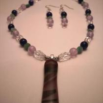 Rainforest Necklace and Earring Set Photo