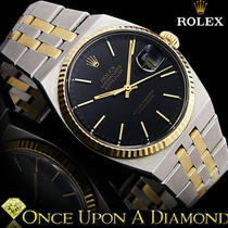 Rare Mans Rolex Oysterquartz Datejust Two Tone Jubilee 36mm 17013b Photo