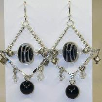 Ready to Ship - Giselle Gypsy Earrings in Silver Photo
