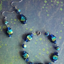 Ready to Ship - Sale - Celine Bracelet and Earrings Set Photo