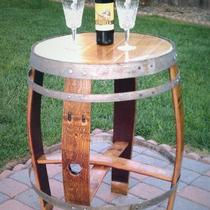 Recycled Wine Barrel Table Photo