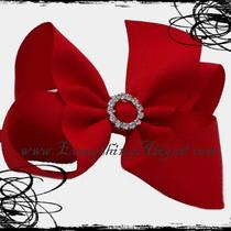 Red Boutique Bow With Bling Center Photo