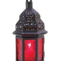 Red Glass Morroccan Lantern Photo