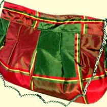 Red &amp Green Plaid Evening Bag Photo