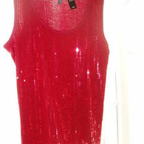 Red Sequin Sleeveless Top Photo