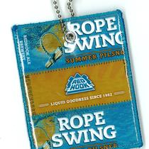 Repurposed Redhook Rope Swing Beer Labels Luggage Tag Photo