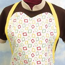 Retro Squares Reversible Apron Photo